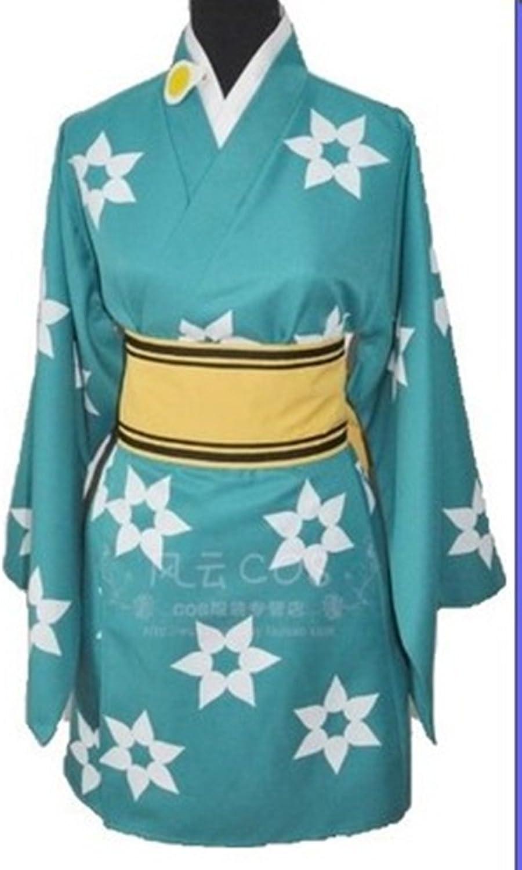 Fake story Bakemonogatari Araragi Mon Tue Kimono set damen M Größe [short yukata, pelvic girdle, ribbon, hair ornaments with] cosplay costume Mon Tue Kimono M (japan import) B00EI3CJZO Hochwertige Materialien  | Qualifizierte Herstellung