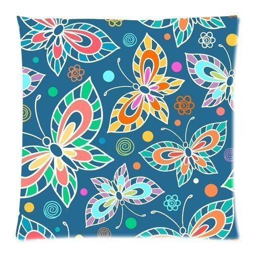 Damask Square Slip Funda de Almohada Motivos Florales repetitivos con Curlicues Royal Revival Old Fashion Earth Tones Blue Apricot Fundas de cojín Fundas de Almohada para sofá Dormitorio Coche