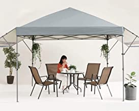 MASTERCANOPY 10x10 Pop-up Gazebo Canopy Tent with Double Awnings Grey