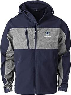 NFL Dallas Cowboys Mens Zephyr Softshell Jacket, Navy/Grey, XX-Large