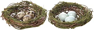 Round Artificial Moss Nest Ornament w/ Clip