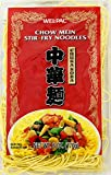 Asian style chow mein stir-fry noodles Chuka soba Cook noodles in boiling water for 3 minutes Drain well and use to make stir-fry noodles