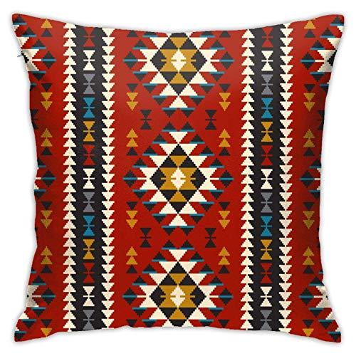 giyiohok Southwest American Indian Aztec Navajo Dormitorio/Sala de Estar/Habitación/Sofá Funda de Almohada Moderna Cojín Decorativo 18 Pulgadas 18 pulgadash