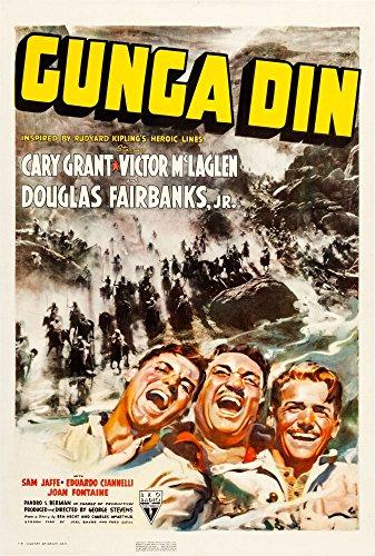 Posterazzi Gunga Din Us Art Cary Grant Victor Mclaglen Douglas Fairbanks Jr. 1939 Movie Masterprint Poster Print, (11 x 17)