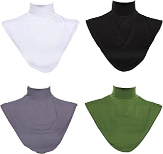 GladThink 4 X Women's Muslim Modal Fake Collar Hijab Extensions Neck Cover