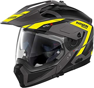 Nolan N70-2 X Grandes Alpes N-Com Helm Schwarz Matt/Gelb S 56