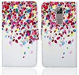Huawei G8 / GX8 Handy Tasche, FoneExpert® Wallet Hülle Flip Cover Hüllen Etui Ledertasche Lederhülle Premium Schutzhülle für Huawei G8 / GX8 (Pattern 1)