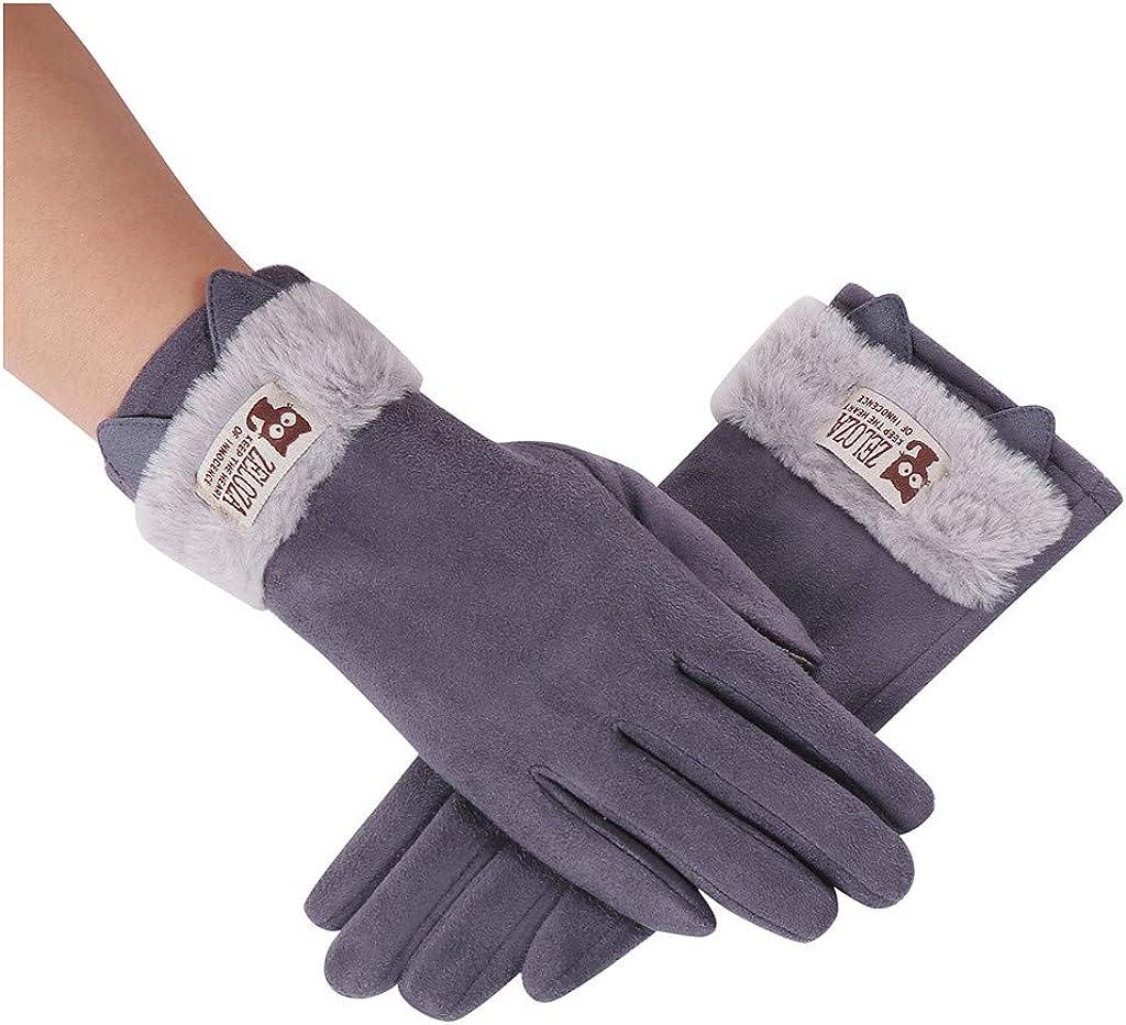 Jchen(TM) Fashion Women Cartoon Cute Cat Ear Winter Fleece Thermal Gloves Girls Thicken Warm Cold Weather Mittens