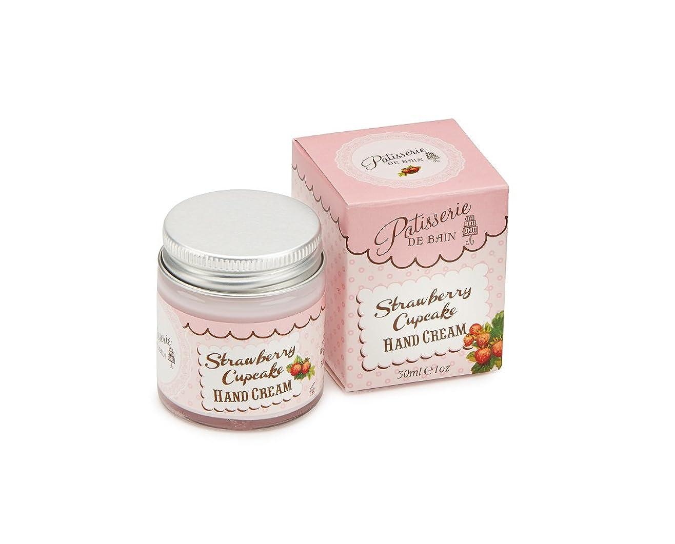 メナジェリー受賞レンダリングRose And Co Patisserie De Bain STRAWBERRY CUPCAKE Moisturising Hand Cream 30ml