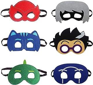 Cartoon Hero Masks Party Supplies Dress Up Costumes Set of 6 Masks for Kids