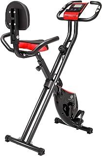 フィットネスバイク エアロバイク 折りたたみ式 静音 心拍数計測 負荷調整8段階 背もたれ付き サイドハンドル付き 自転車トレーニング 室内運動 電源不要