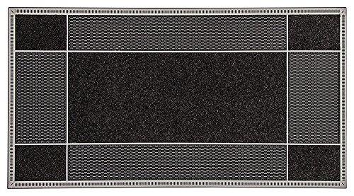 CarFashion PUR|EnduraClean Design Fussmatte - Schmutzfangmatte – Sauberlaufmatte – Eingangsmatte für Innen und Aussen, TPE-VC 100{5d7f41ce3a0951e48f2335f6044ee8e3246200b402842380bdf2589c63b76238} Nachhaltig, Anthrazit Farbene Oberfläche, 117 x 59 cm