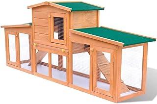 UBAYMAX Casa de Animales Pequeños, Jaula de Mascota,Conejera Gallinero Pajarera Granja, Madera