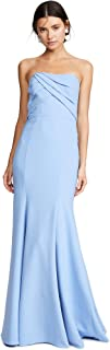 Marchesa Notte Women's Sleeveless Draped Bodice Gown