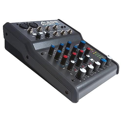 Alesis - MultiMix4 USB FX - Table de Mixage Analogique 4 Voies avec Effets, Interface Audio USB et Logiciel Cubase LE Inclus - Noir