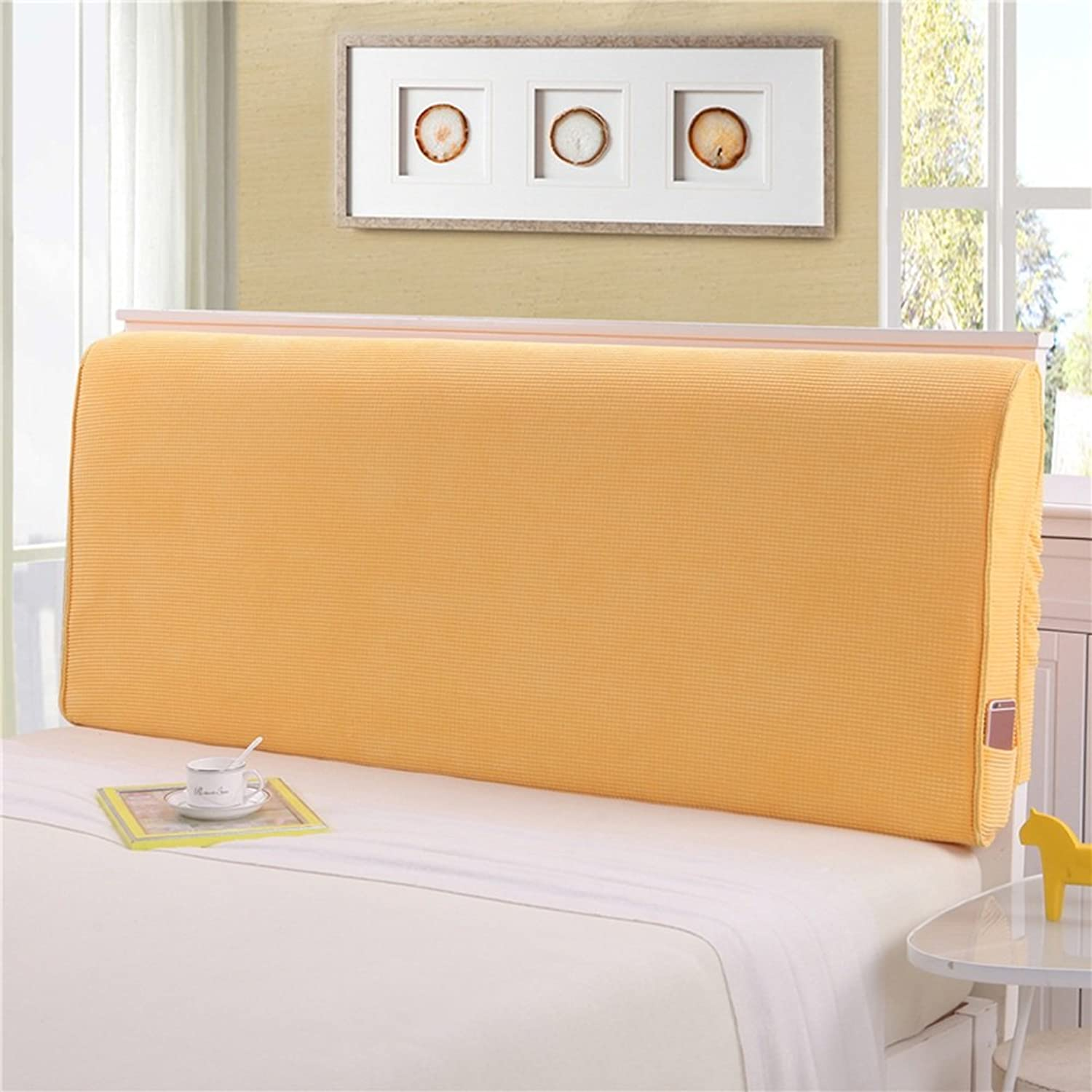 WENZHE Upholstered Fabric Headboard Bedside Cushion Pads Cover Bed Wedges Backrest Waist Pad Double Bed Large Back Sofa Pillow Washable Breathable Do Not Collapse, There Is Headboard   No Headboard, 5 colors, 4 Sizes ( color   4  , Size   With headboard-1