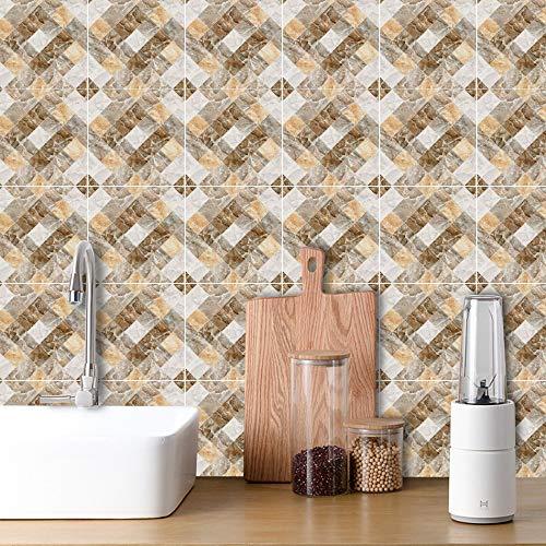 XOSHX Zelfklevende muurstickers van kristal, tv-achtergrond, stickers, muurstickers voor woonkamer, keuken, badkamer