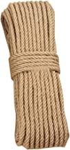 100% Natural Hemp Rope (14mm), 20 Meters(65 ft) for Arts Crafts DIY Decoration