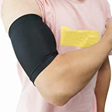 Luwint Compression Upper Arm Sleeve – Biceps/Triceps Tendon Brace Support for Workouts, Cycling, Running, Basketball, Volleyball, 1 Pair (L)
