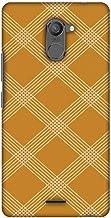 AMZER Slim Designer Snap On Hard Case Back Cover for Infinix Hot 4 Pro - Carbon Fibre Redux Desert Sand 5
