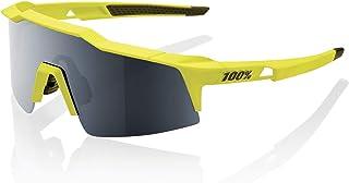 100 Percent SPEEDCRAFT SL-Soft TACT Banana-Black Mirror Lens Gafas, Hombres, Amarillo-Cristal Oscuro, Mediano