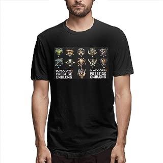 Hengteng Men's Print Comfortable Prestige Emblems for Black OPS II Short Sleeve New T-Shirts Black