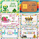 60 Pieces Thinking of You School Themed Blank Postcards Colorful Cute Postcards Accessories for Teachers Students Showing Love Encouragement and Support (Mexican Style)