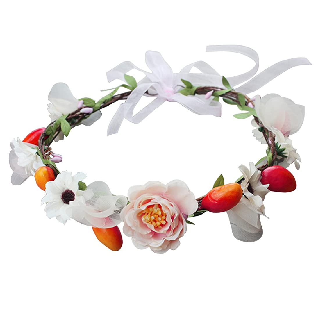 回路万歳トレッドWINOMO 花かんむり 花冠 花飾り ヘアアクセサリー ブライダル ウェディング 結婚式 花嫁 写真 発表会