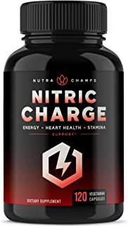 Nitric Oxide Supplement with L Arginine, Citrulline Malate, AAKG, Pine Bark & Grape Seed Extract - Powerful NO Booster for...