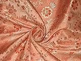 Seide Brokat Stoff orange & gold Farbe 111,8cm by the