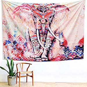Arfbear Wall Hanging Bule and White Bohemian Trippy Large tablecloths Wall Tapestry