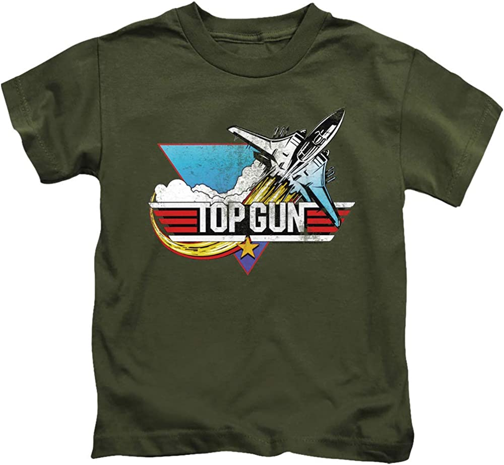 Top Gun Boys T-Shirt Vintage Logo Military Tee