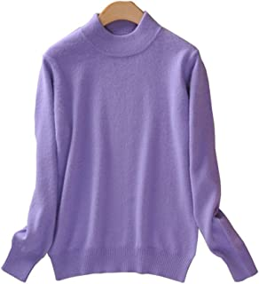 Women's Slim Mock Neck Wool Knit Jumper Sweater Tops Pullover
