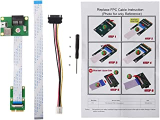 GMSP Mini Card Slot PCIE to PCI-E Express X1+USB Riser Card with FFC Cable and High Speed DIY 90 Degree Slot