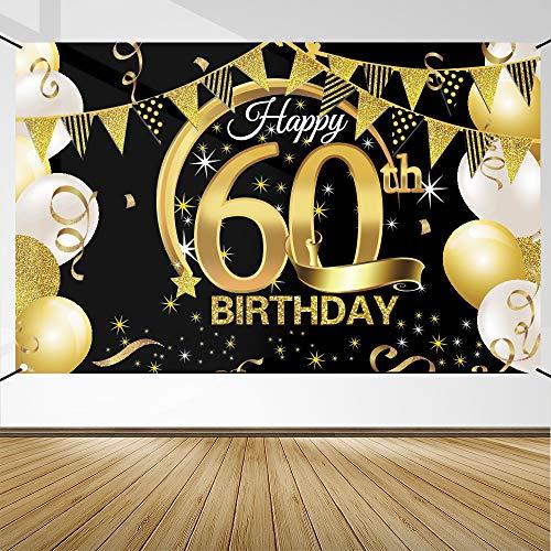 Decoración de Fiesta de 60 Cumpleaños, Extra Grande Póste