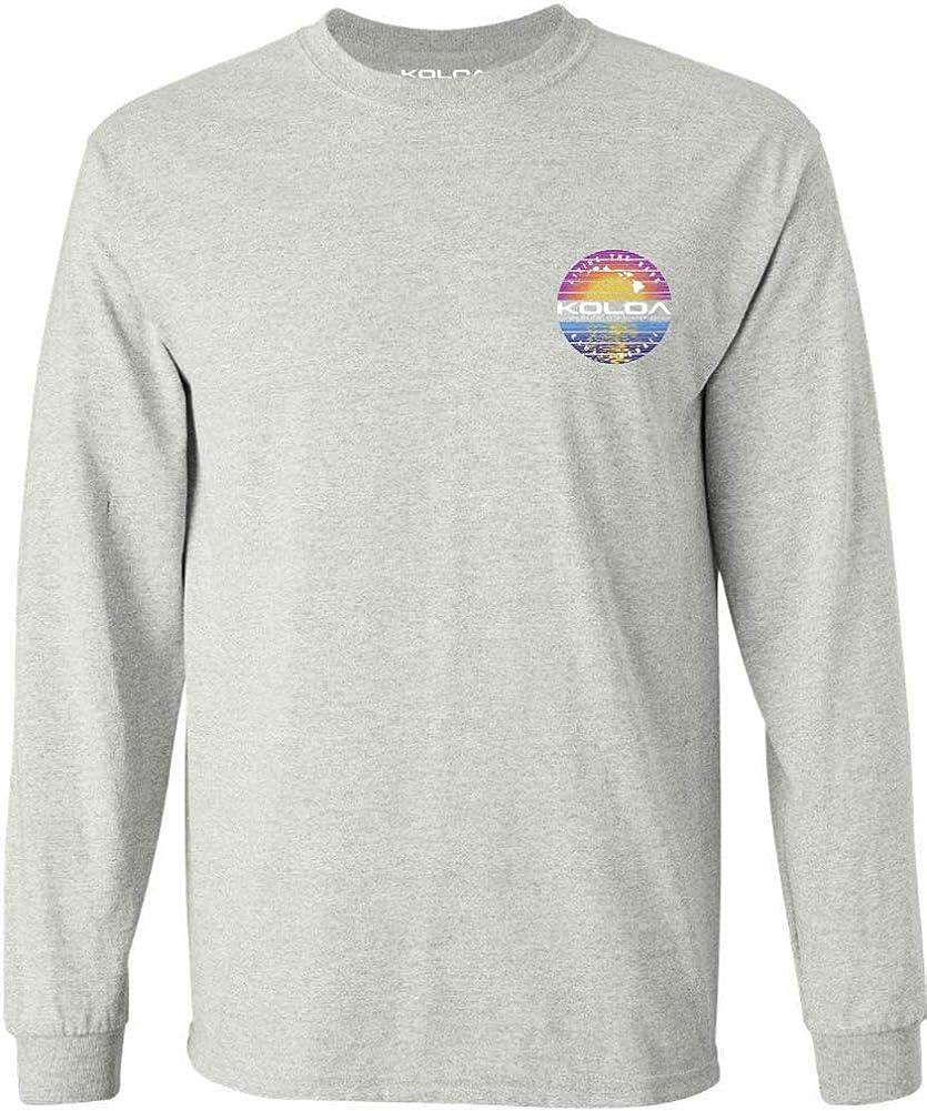 Koloa Surf Mens Reflecting Ocean Logo Long Sleeve Cotton Tee - Reg, Big and Tall