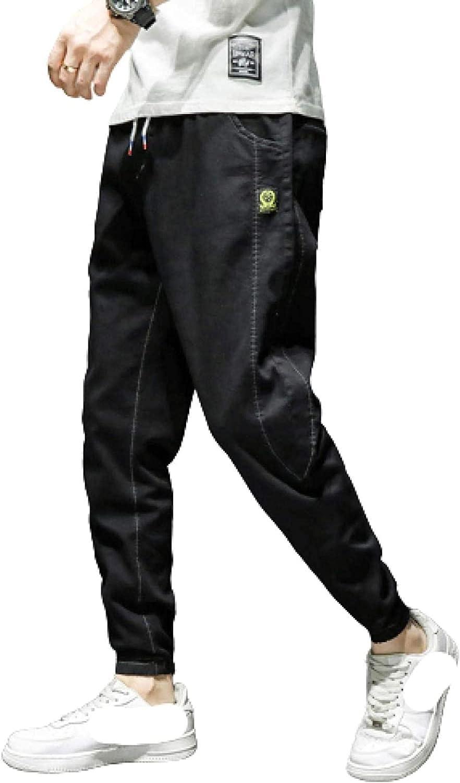 LLTT half Men's 2021new shipping free Elastic Waist Tapered Coloured Sl Stretch Plain Jeans