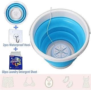 YN Portable Mini Turbo Washing Machine, Ultrasonic Turbo Washing Machine with Folding..