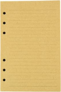 Journal Refills Kraft Inserts - 5 x 7 Binder Filler Papers, Personal Size, 120 Sheets / 240 Writing Pages, Lined