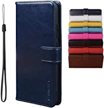 BRAND SET Case for Infinix Note 7 Lite/Infinix Hot 9 Case Wallet Style Faux Leather flip Case with Secure Magnetic Closure Lock and Bracket Function Suitable for Infinix Hot 9/Note 7 Lite(Dark blue)