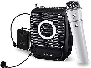 SHIDU Wireless Bluetooth Voice Amplifier 25W (2600mAh), Loud Pa Speaker with Double Microphones Portable for Teachers/Tour Guides/Elderly/Singers/Karaoke and More (S92)