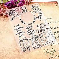 香水瓶透明なクリアシリコーンスタンプ/シールDIYスクラップブッキング/フォトアルバム装飾的なクリアスタンプシート
