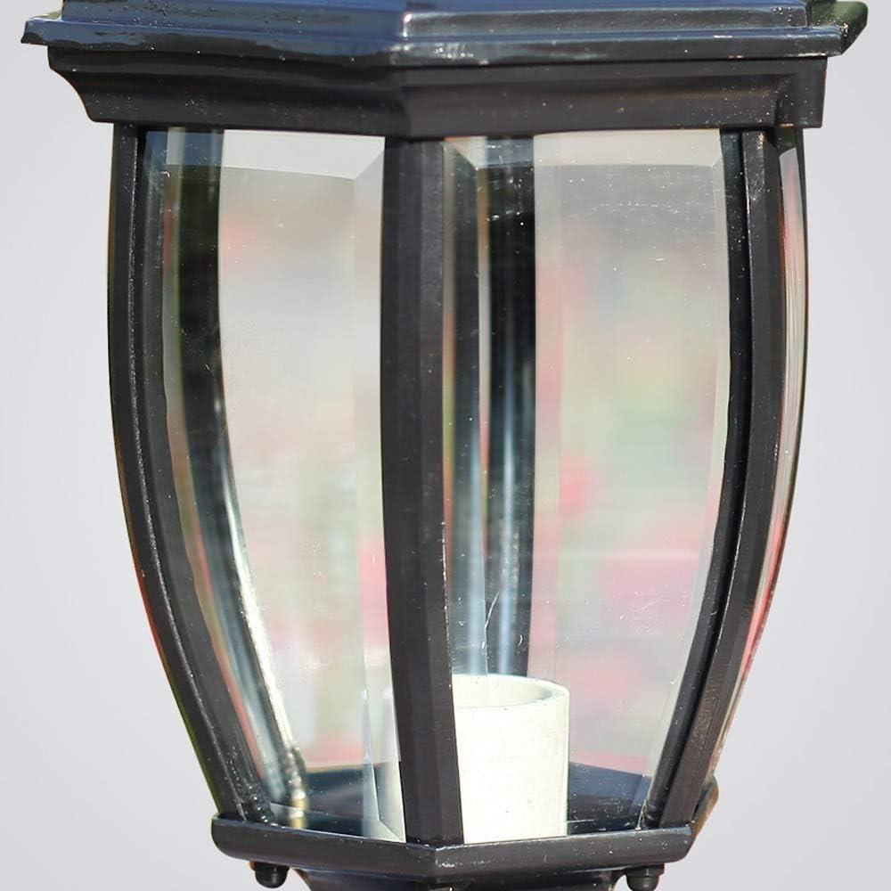 Color : Bronze QTRT European Glass Waterproof Post Garden Lights Corrosion Resistant Aluminum Table Column Lamp Home Outdoor LED Pier E27 Lighting Lamp Decoration Garden Landscape Outside Wall