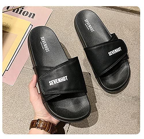 MLLM Pies hinchados Calzado diabético,Pantuflas de pie para Diabetes, Zapatos de recuperación de tamaño Ajustable-Negro_35,Calzado Ortopédico Ajustable