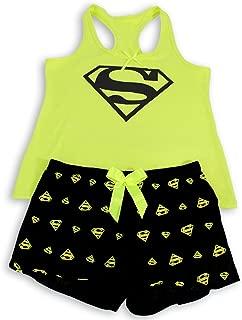 Women's Pajama Set, Superman Printed Tank Top and Shorts