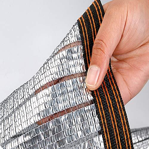 Geovne Malla Sombreadora de Aluminio Reflectante 85%,Red de Sombreado Resistente,Solar Sombra Paño de Jardín,Sombra Paño de Sol Transpirable,para Patio,Techo,Cochera,Balcón (3x5m)
