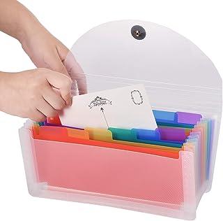 coupon fiscali e cartelline portadocumenti portatili 2 tasche A6 mini organizer per ricevute a fisarmonica arcobaleno espandibile per banconote