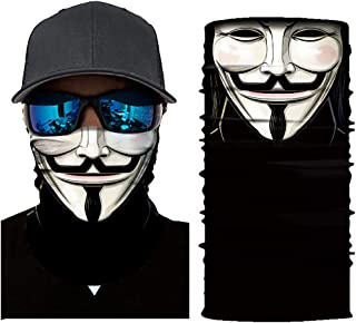 JSJCHENG Seamless Face Mask Neck Gaiter UV Protection Windproof Face Mask Scarf