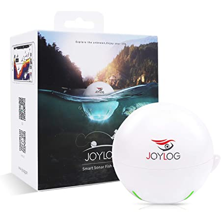 JOYLOG Fish Finder Portable Wireless Bluetooth Smart Sonar Depth Finder with APP for Kayak/Ice/Boat Fishing