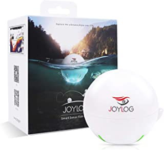 JOYLOG Portable Wireless Bluetooth Fish Finder Smart Sonar Depth Finder with iOS & Android Phone APP for Kayak/Ice/Boat Fishing